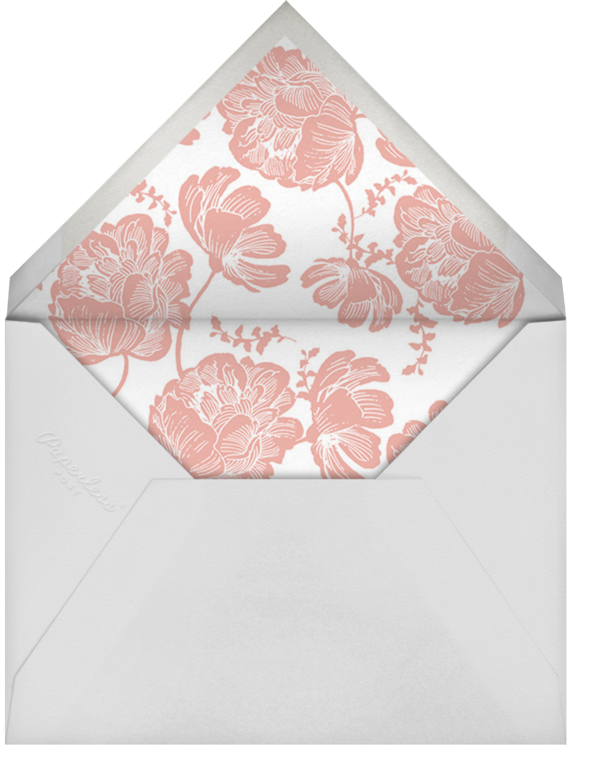 Audrey II (Save The Date) - Papaya - Paperless Post - Save the date - envelope back