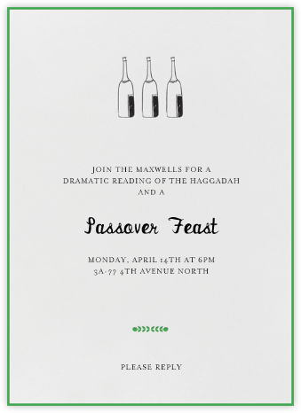 Bubbly for All (Great Scot) - Mr. Boddington's Studio - Passover invitations