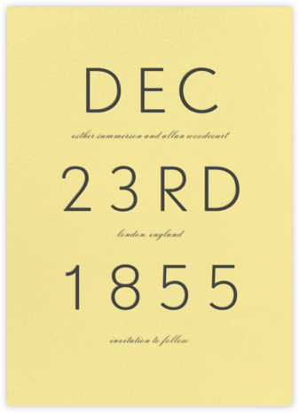Diem - Lemon Drop - Paperless Post - Save the dates