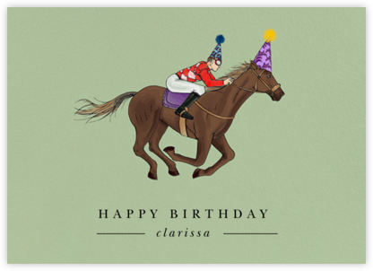Thoroughbred Birthday  - Paperless Post - Birthday Cards for Him