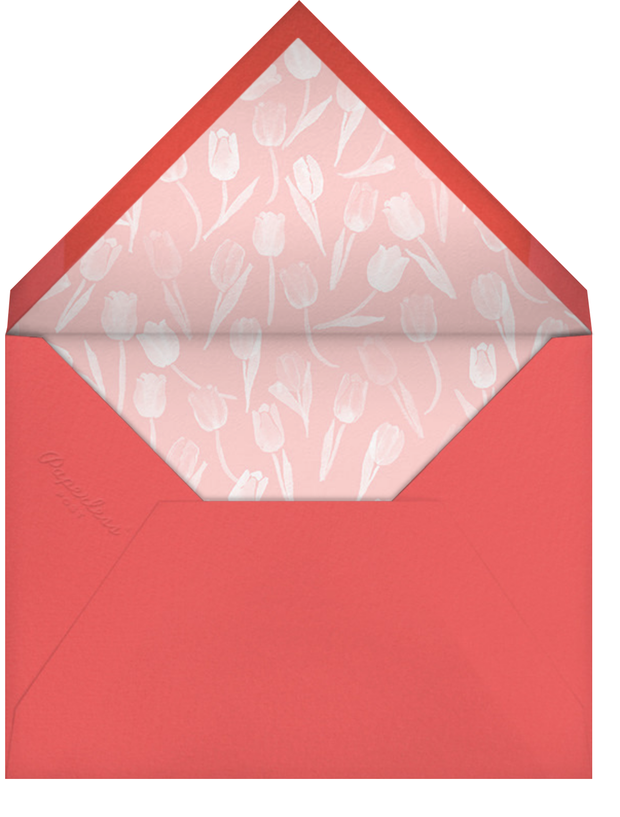 Tulip Bed - Paperless Post - Easter - envelope back