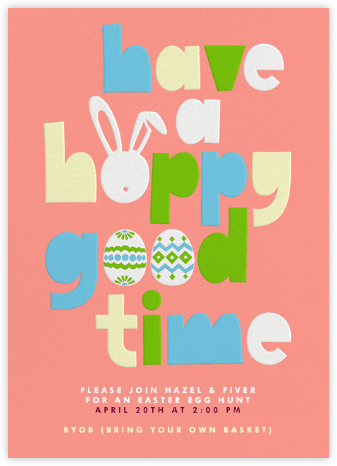 Have a Hoppy Good Time - Paperless Post - Easter invitations