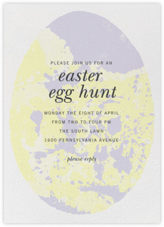Marbled Egg - Paperless Post - Easter invitations