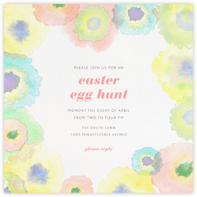 Watercolor Dye - Paperless Post - Easter Invitations