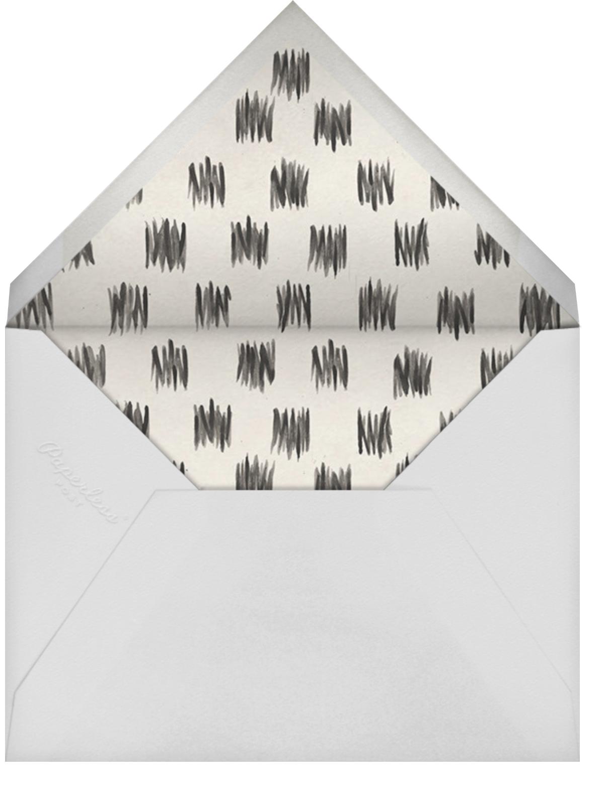 Champagne Toast II - Kelly Wearstler - Engagement party - envelope back
