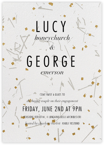 Fetiluxe - White - Kelly Wearstler - Engagement party invitations