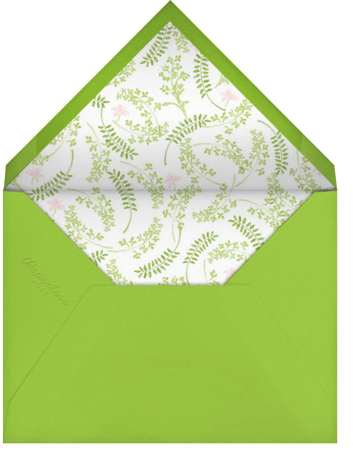 Spring Garden Bed - Paperless Post - Easter - envelope back