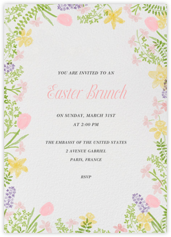 Spring Garden Bed - Paperless Post - Easter invitations