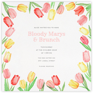 Tulip Bed - Paperless Post - Online Party Invitations