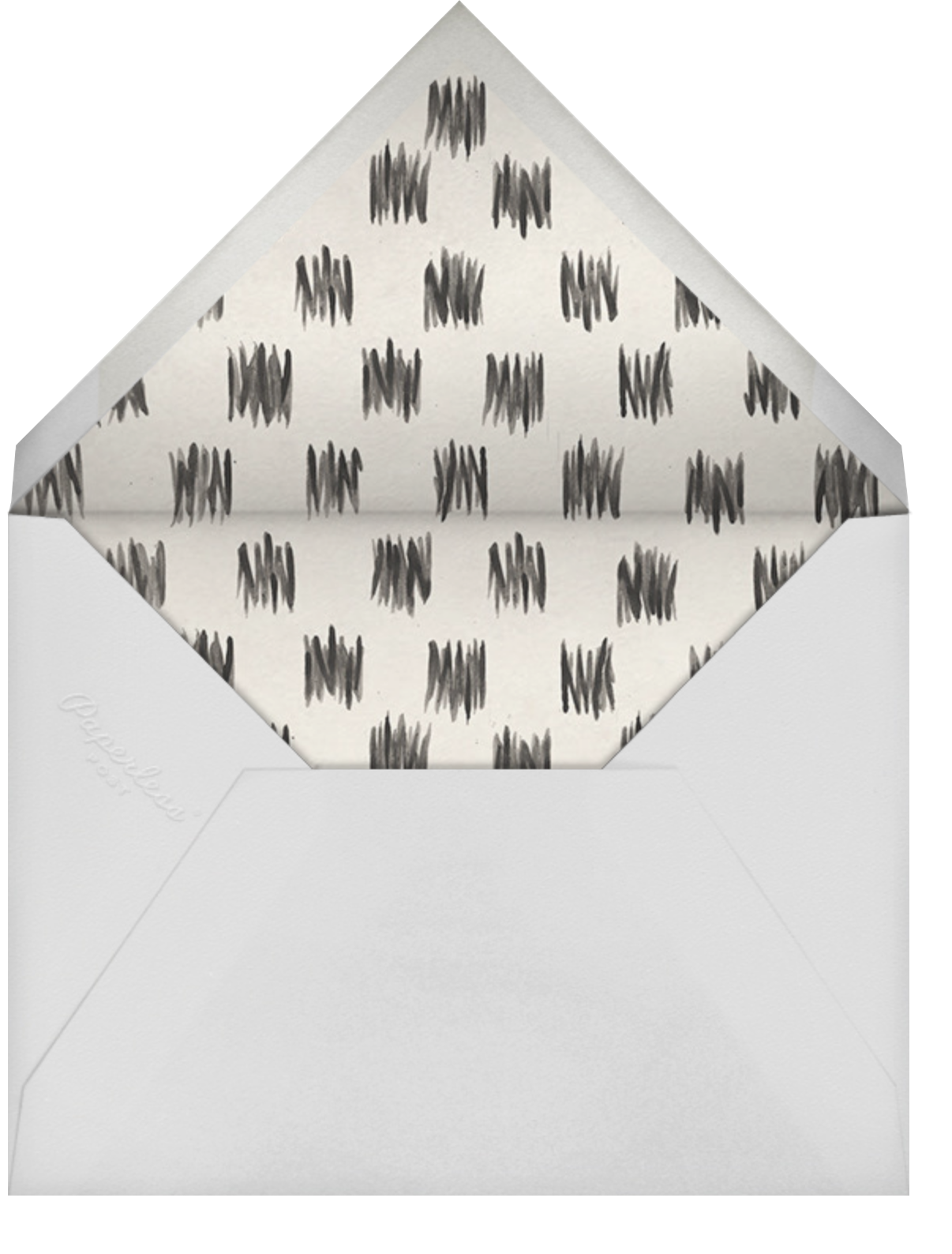 Spruce - Kelly Wearstler - Engagement party - envelope back