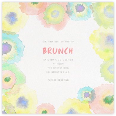 Watercolor Dye - Paperless Post - Online Party Invitations