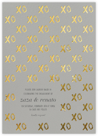 Bisou Bisou - Kelly Wearstler - Engagement party invitations