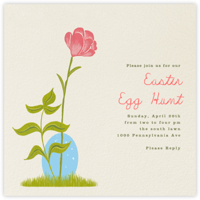 Hidden Egg - Paperless Post - Easter invitations