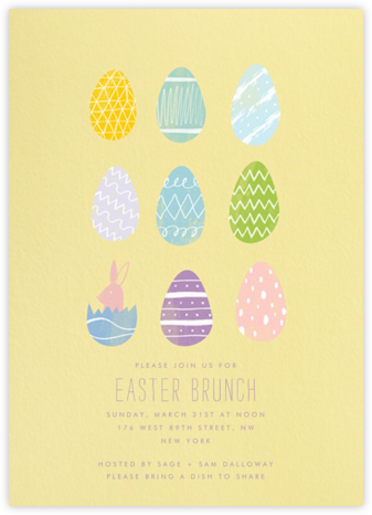 Assorted Eggs - Paperless Post - Easter Invitations