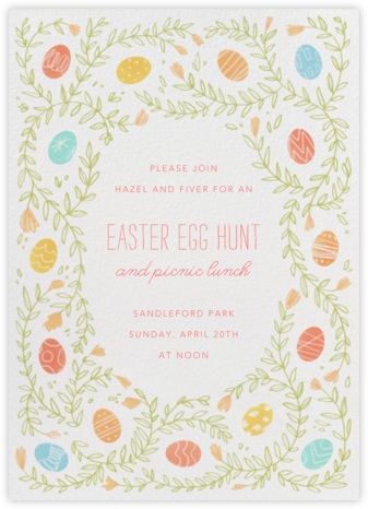 Egg Vine - Paperless Post - Easter Invitations