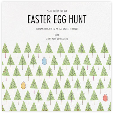 Lost in a Forest - Paperless Post - Easter Invitations