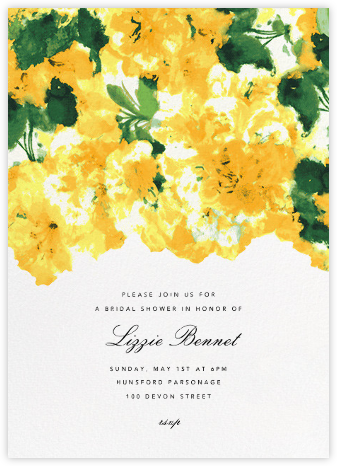 Azalea - Oscar de la Renta - Bridal shower invitations