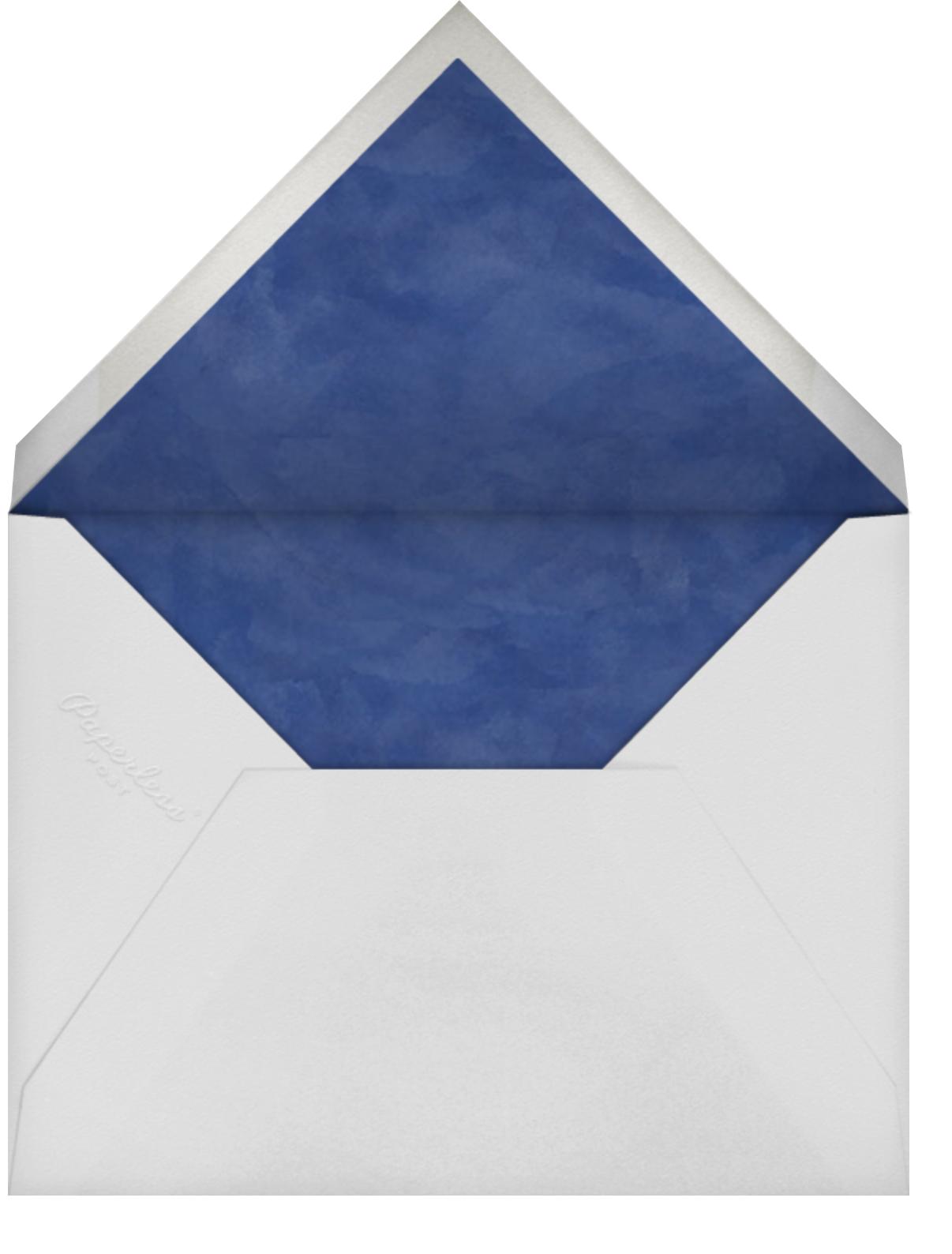 Floral Trellis II - Blue/White - Oscar de la Renta - All - envelope back