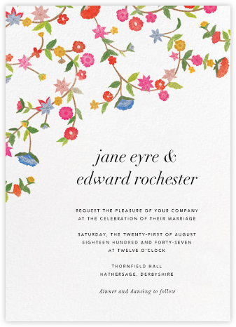 Stitched Floral II - Oscar de la Renta - Indian Wedding Cards