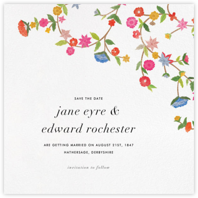 Stitched Floral II - Save The Date - Oscar de la Renta - Save the dates