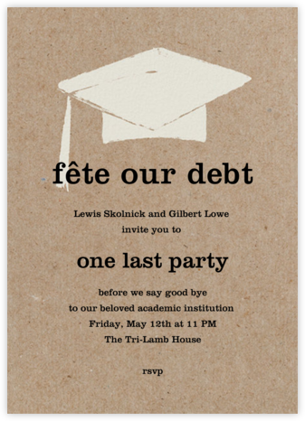 Mortar Board - Chipboard - Paperless Post - Celebration invitations