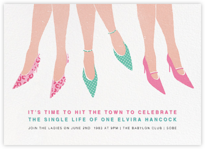 Out on the Town - Paperless Post - Bachelorette party invitations