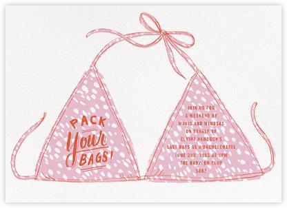 Leopard Bikini - Paperless Post - Bachelorette party invitations