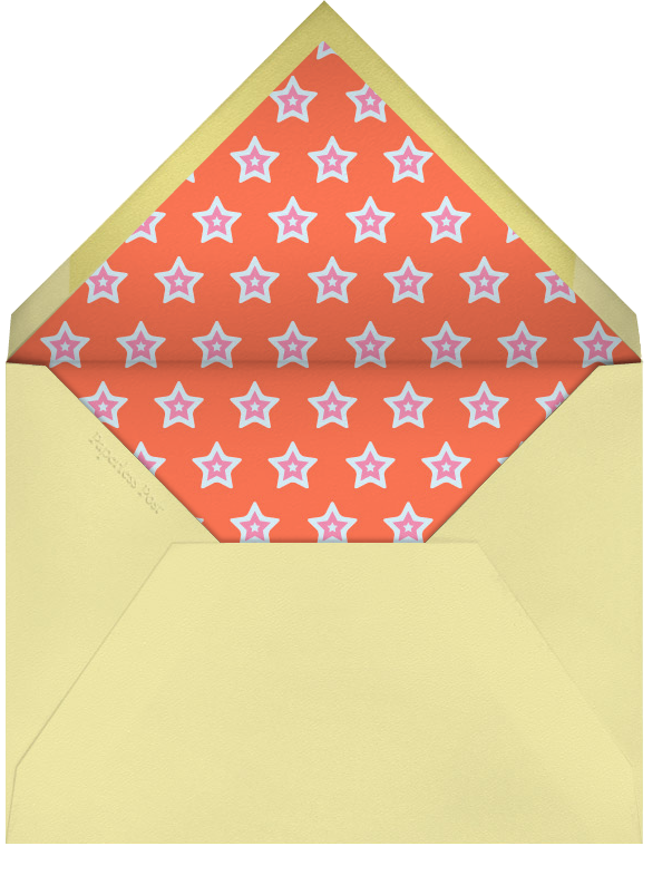 1 Night Only - Red - Paperless Post - Bachelorette party - envelope back