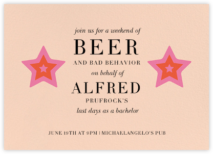 Video Star  - Paperless Post - Bachelor party invitations