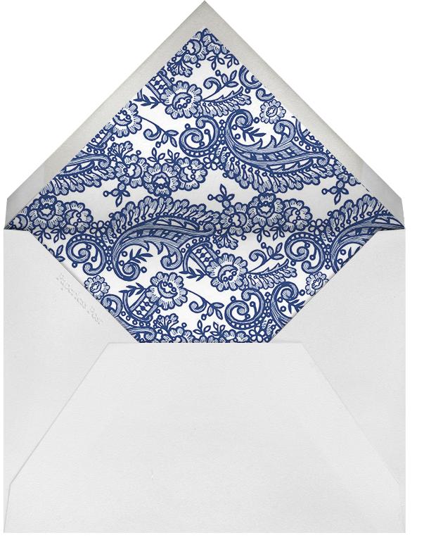 Filigree Lace (Square) - Navy - Oscar de la Renta - Rehearsal dinner - envelope back