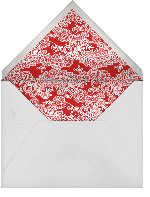 Filigree Lace (Square) - Vermillion - Oscar de la Renta - Rehearsal dinner - envelope back