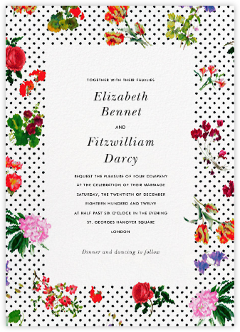 Botanical Dot - White - Oscar de la Renta - Wedding Invitations