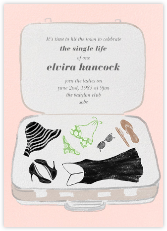 Pack Your Bags - Paperless Post - Bachelorette party invitations