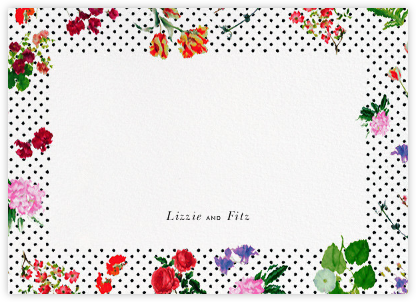 Botanical Dot - White (Thank You) - Oscar de la Renta - Personalized stationery