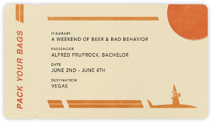 Boarding Pass - Paperless Post - Showers and parties