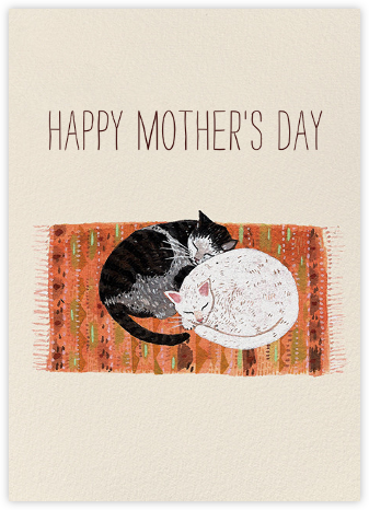 Cat Cuddle (Becca Stadtlander) - Red Cap Cards - Mother's Day Cards