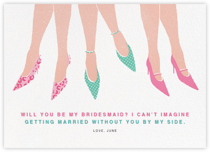 Out on the Town - Paperless Post - Will You Be My Bridesmaid Cards