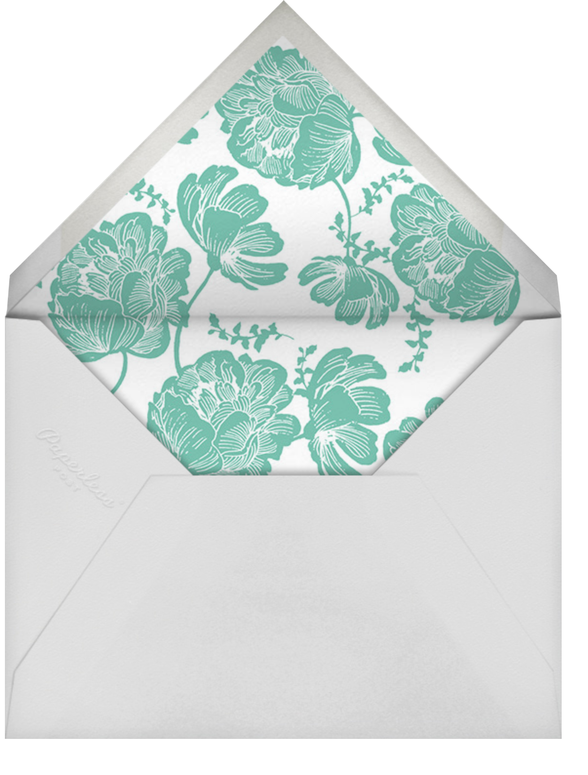 Audrey II - Lagoon - Paperless Post - Mother's Day - envelope back