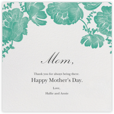 Audrey II - Lagoon - Paperless Post - Mother's Day Cards