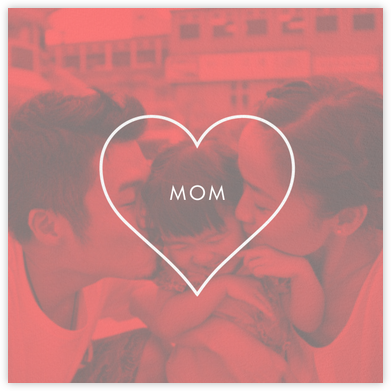 Heart Line (Photo) - White - Paperless Post - Mother's Day Cards