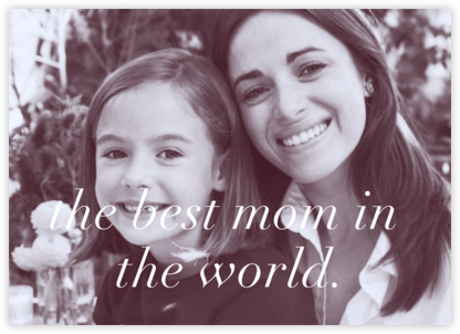 Full-Page Photo Ivory (Double-Sided) - Horizontal - Paperless Post - Mother's Day Cards