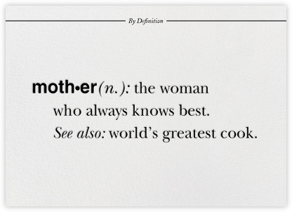 Mother By Definition - Paperless Post - Mother's Day Cards