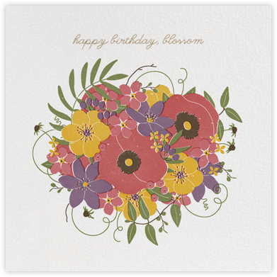 Gathered Bouquet - Paperless Post - Birthday Cards