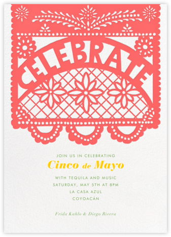 Papel Picado Celebration - Paperless Post - Cinco de Mayo Invitations