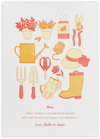 Gardening Tools - Paperless Post - Mother's Day Cards
