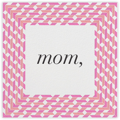 Preppy Frame - Magenta - Paperless Post - Mother's Day Cards