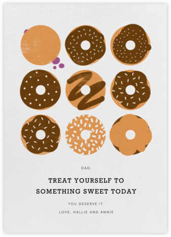 Donuts - Chocolate - Paperless Post - Father's Day cards