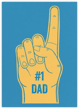 Foam Number One Hand - Paperless Post - Father's Day cards