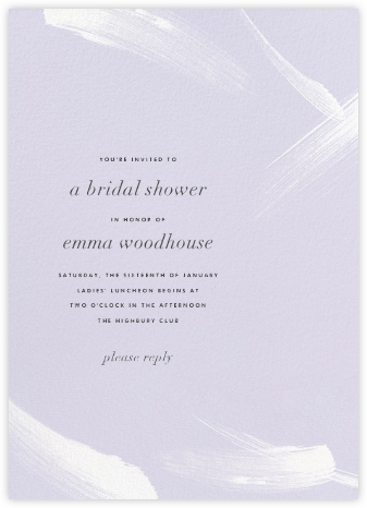 Gesture II - Taro - Paperless Post - Bridal shower invitations