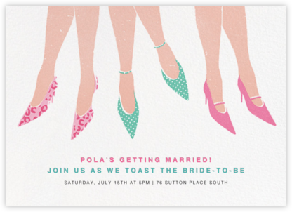 Out on the Town - Paperless Post - Bridal shower invitations